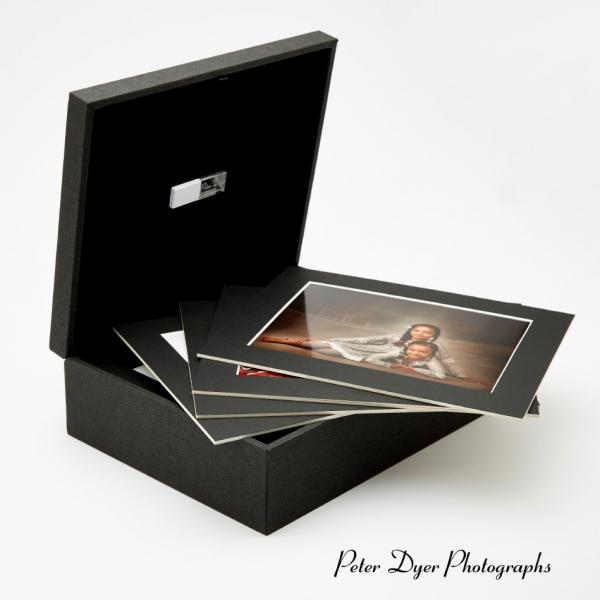 Portrait USB Print box with black mounts