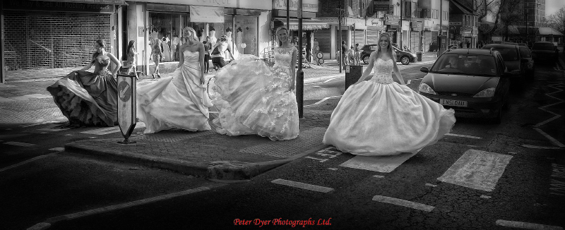 The Boutique, wedding dresses photographs by Peter Dyer Photographs