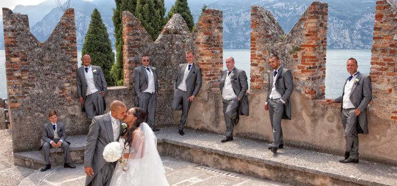 Lake Garda wedding photographs