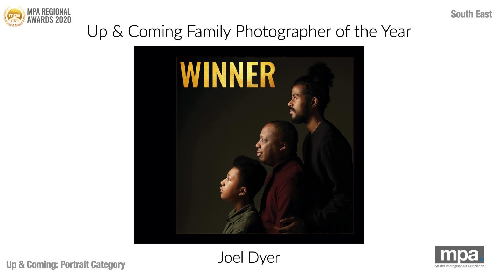 Winner of MPA's South East region of up and coming Family Photographer of the Year by Peter Dyer Photographs