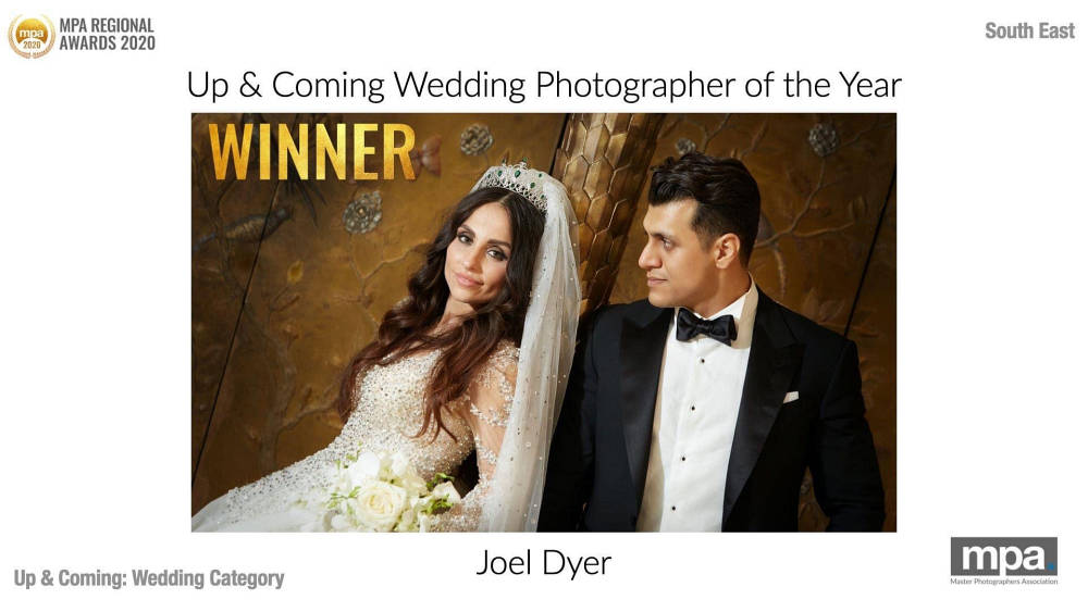 Winner of MPA's South East region up and coming Wedding Photographer of the Year by Peter Dyer Photographs